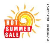 summer sale banner design... | Shutterstock .eps vector #1015063975