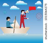 business success concept...   Shutterstock .eps vector #1015064275