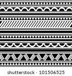 maori   polynesian style tattoo ...   Shutterstock . vector #101506525