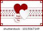 happy valentines day greeting... | Shutterstock .eps vector #1015067149