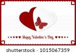 happy valentines day vector... | Shutterstock .eps vector #1015067359