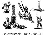 a petroleum engineer is on the... | Shutterstock .eps vector #1015070434