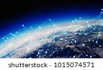 connections system and global... | Shutterstock . vector #1015074571