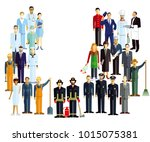 employees  workers  profession... | Shutterstock . vector #1015075381