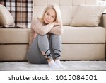 depression. middle aged... | Shutterstock . vector #1015084501