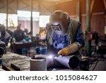 profesional welder in...   Shutterstock . vector #1015084627