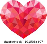 vector geometric heart  low...   Shutterstock .eps vector #1015086607