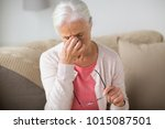 old age  health problem  vision ... | Shutterstock . vector #1015087501
