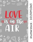 valentine day poster. hand... | Shutterstock .eps vector #1015091065