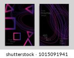 abstract banner template with... | Shutterstock .eps vector #1015091941