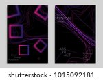 abstract banner template with... | Shutterstock .eps vector #1015092181
