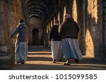 Monks At The Ruins Of Fountain...