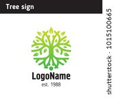 sign in the form of a tree with ... | Shutterstock .eps vector #1015100665