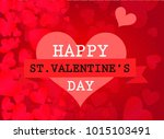 st. valentine's day abstract...   Shutterstock .eps vector #1015103491