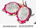 dragon fruit isolated on white... | Shutterstock . vector #1015103995