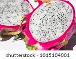 dragon fruit isolated on white... | Shutterstock . vector #1015104001