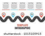 navigation winding road vector... | Shutterstock .eps vector #1015105915