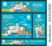 banner set flat design concept... | Shutterstock .eps vector #1015114504