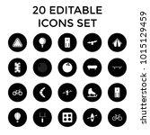 recreation icons. set of 20... | Shutterstock .eps vector #1015129459