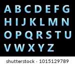 vector alphabet set geometric... | Shutterstock .eps vector #1015129789