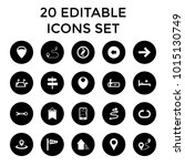 direction icons. set of 20... | Shutterstock .eps vector #1015130749