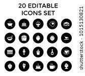 tasty icons. set of 20 editable ... | Shutterstock .eps vector #1015130821