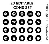 character icons. set of 20... | Shutterstock .eps vector #1015130869