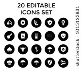 protect icons. set of 20... | Shutterstock .eps vector #1015132831