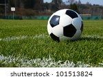 soccer ball on the field | Shutterstock . vector #101513824