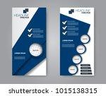 vector flyer and leaflet design.... | Shutterstock .eps vector #1015138315