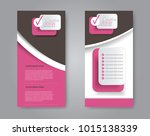 vector flyer and leaflet design.... | Shutterstock .eps vector #1015138339