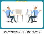 set of young male businessman.... | Shutterstock .eps vector #1015140949
