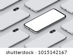 isometric smartphones mockup...