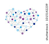 heart shape created from lines... | Shutterstock .eps vector #1015142239