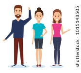 group of people avatars... | Shutterstock .eps vector #1015143505