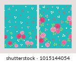 set of seamless pattern with... | Shutterstock .eps vector #1015144054