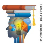 successful student of economics.... | Shutterstock .eps vector #1015144057