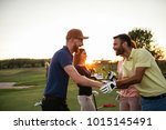 Golfing Partners Shaking Hands...