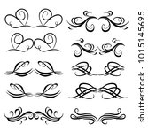 decorative monograms and... | Shutterstock .eps vector #1015145695