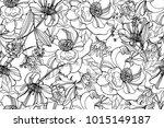 black and white seamless...   Shutterstock .eps vector #1015149187