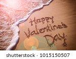 happy valentine's day message... | Shutterstock . vector #1015150507