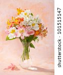 Bouquet Of Alstroemeria  In A...