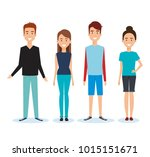 group of people avatars... | Shutterstock .eps vector #1015151671