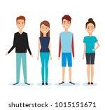 group of people avatars... | Shutterstock .eps vector #1015151671