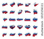 slovenia flag  vector... | Shutterstock .eps vector #1015156111
