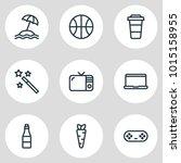 illustration of 9 entertainment ... | Shutterstock . vector #1015158955