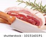 fresh pork isolated | Shutterstock . vector #1015160191