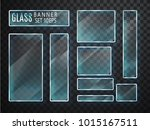 glass transparent plates set.... | Shutterstock .eps vector #1015167511