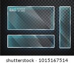 glass transparent banners set.... | Shutterstock .eps vector #1015167514