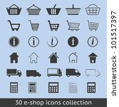 e shop icons | Shutterstock .eps vector #101517397
